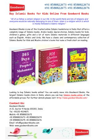 Buy Islamic Books for Kids Online