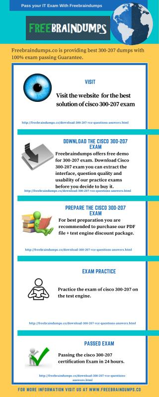 Freebraindumps Exam Dumps 300-207