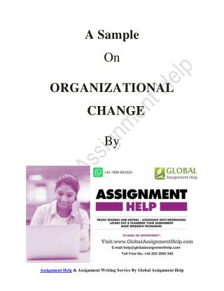 Sample ON Organizational change by Global Assignment Help