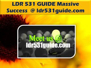 LDR 531 GUIDE Massive Success /ldr531guide.com