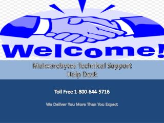 Malwarebytes Customer Support Toll Free 1-800-644-5716