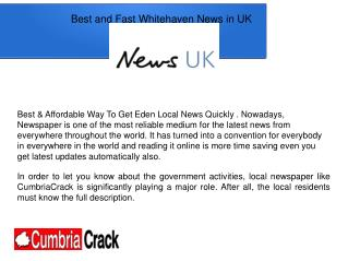 Fast Ulverston Latest News In UK