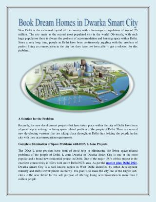 Book dream homes in dwarka smart city