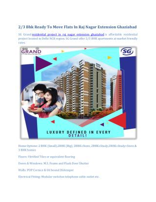 2/3 bhk Flats in Raj Nagar Extension Ghaziabad
