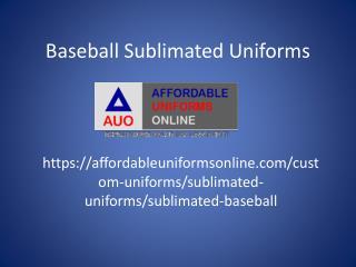 Baseball Sublimated Unifroms