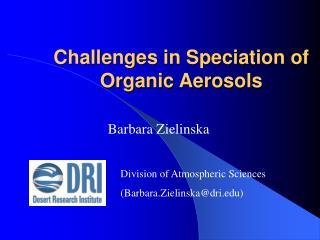 Challenges in Speciation of Organic Aerosols