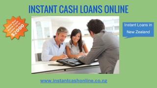 Instant Cash Online Loans in New Zealand