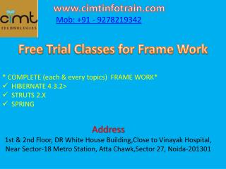 Trial Classes for IT Training at Cimt Technologies.