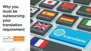 Why you must be outsourcing your translation requirement