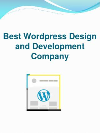 Best Wordpress Design and Development Company