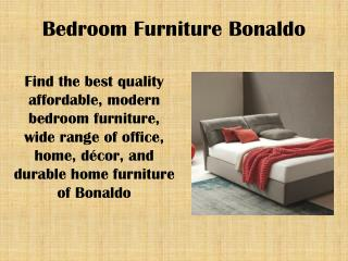 Bedroom furniture bonaldo