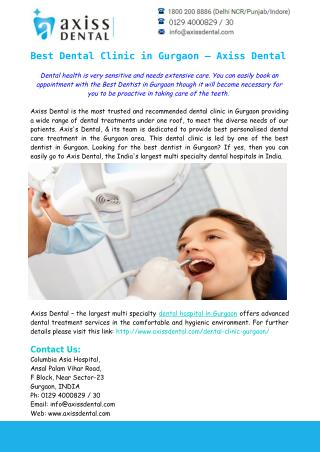 Best Dental Clinic in Gurgaon – Axiss dental