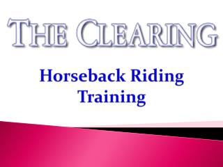 Horseback Riding Training