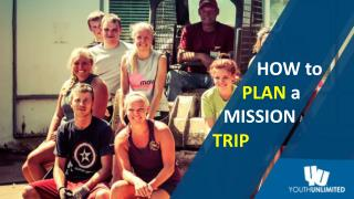 How to Plan a Mission Trip