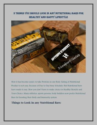 3 Things You Should Look in Any Nutritional Bars for Healthy and Happy Lifestyle