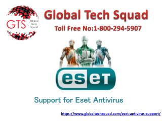 Support for Eset antivirus help Dial:1-800-294-5907