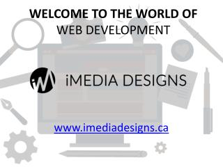 Welcome to the World of Web Development - iMedia Designs