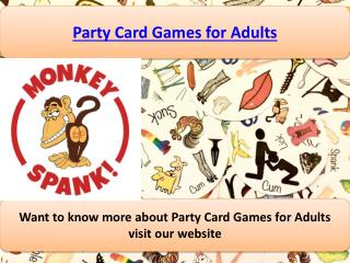 Party Card Games for Adults