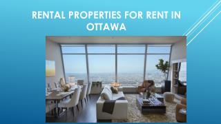 Rental Properties for Rent In Ottawa