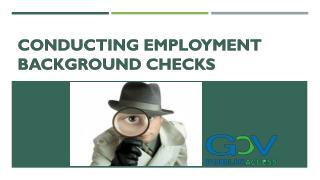 Conducting Employment Background Checks