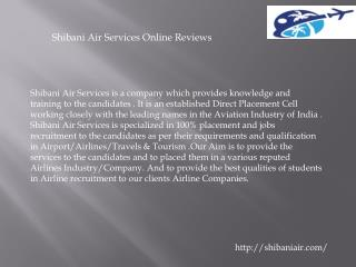shibani air services online reviews