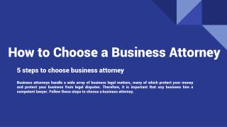 How to Choose a Business Attorney