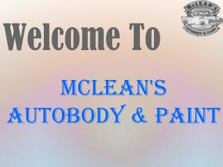 McLeans Autobody and Paint Pdf