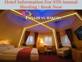 Hotel Information For STS Annual Meeting | Book Now