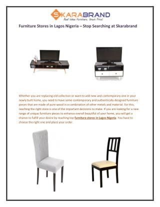 Furniture Stores in Lagos Nigeria – Stop Searching at Skarabrand