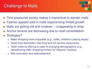 7-1 Challenge to Malls