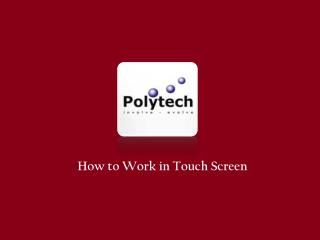 Touch panel manufacturers in singapore