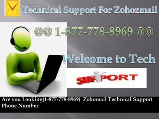 Instant  Zohamail(1-877-778-8969) Tech Support Phone Number