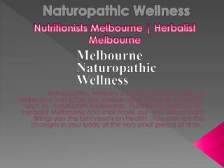 Nutritionist Melbourne | Naturopathic Wellness