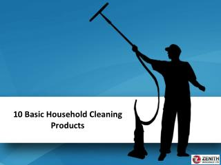 10 Basic Household Cleaning Products