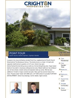 POINT FOUR for sale Residential Real Estate property in Cayman