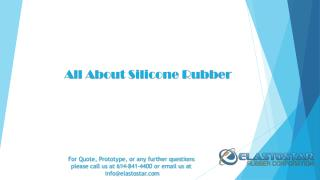 Various Type of Silicone Rubber By Elastostar
