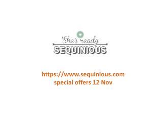 www.sequinious.com special offers 12 Nov