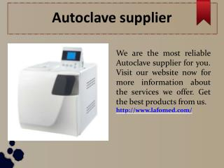 Bench-top autoclave