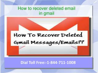 how to recover deleted email in gmail