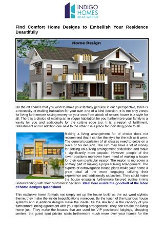Perfect here exists the goodwill of the work of home designs queensland