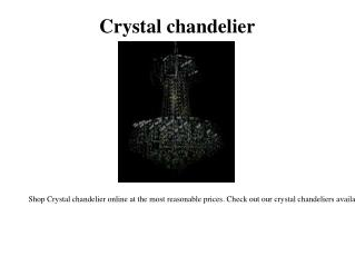 Discount crystal chandeliers