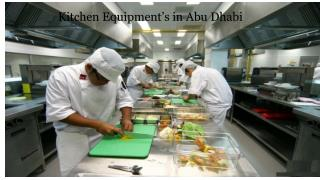 Canteen Equipment and Suppliers in Abu Dhabi