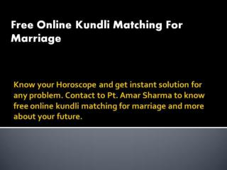 Free Online Kundli Matching For Marriage