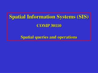 Spatial queries