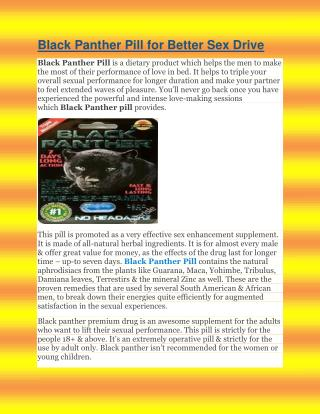 Black Panther Pill for Better Sex Drive