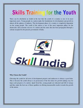 Skill Training For Youth