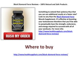 Black Diamond Force Reviews � 100% Natural and Safe Products