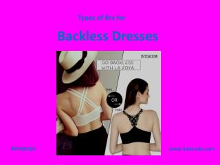 Types of Bra for Backless Dresses