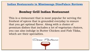 Indian Restaurants In Mississauga DinePalace Reviews