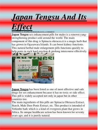 Japan Tengsu And Its Effect